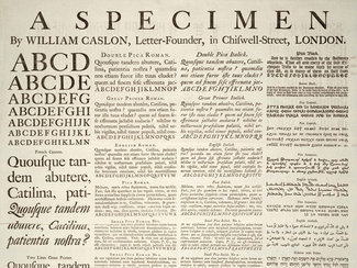 Caslon type sample
