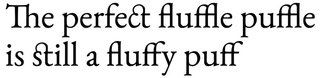 Example of standard, discretionary, and historical ligatures