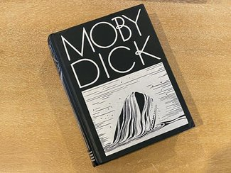 Rockwell Kent edition of Moby Dick book cover