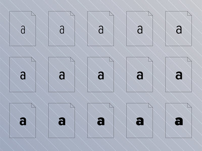 Many font file icons